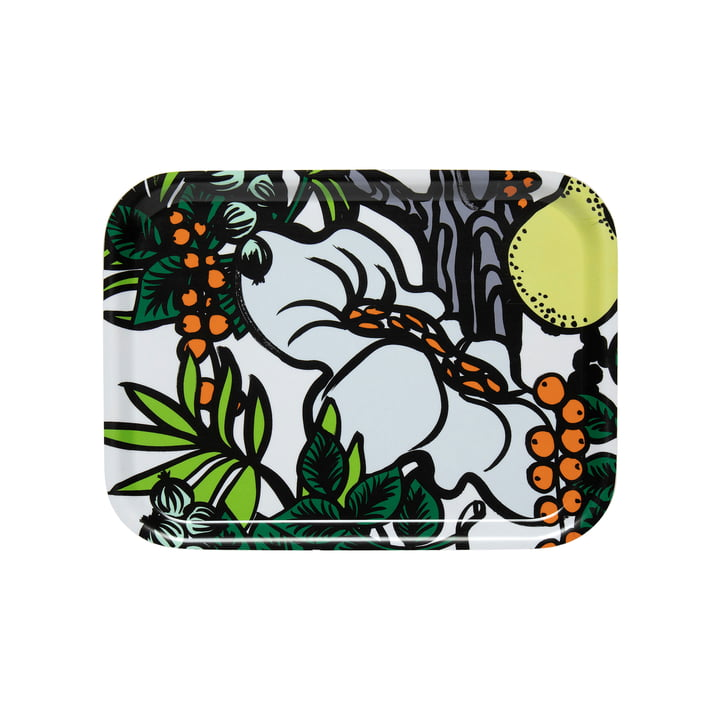 Pala Taivasta Tray 27 x 20 cm from Marimekko in white / green / orange / yellow