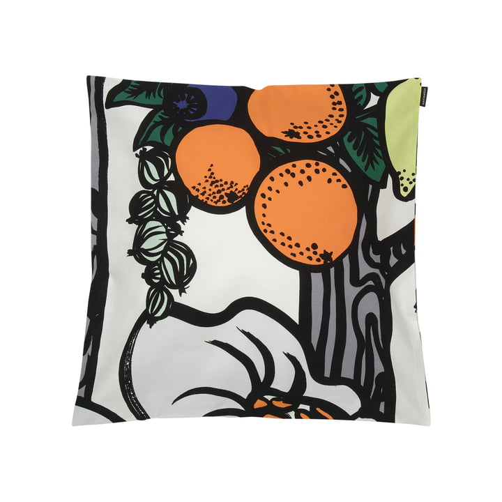 Pala Taivasta 50 x 50 cm cushion cover from Marimekko in white / orange / green