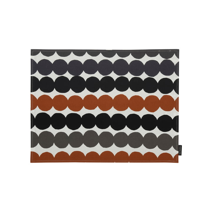 Räsymatto place mat from Marimekko in white / grey / chestnut brown