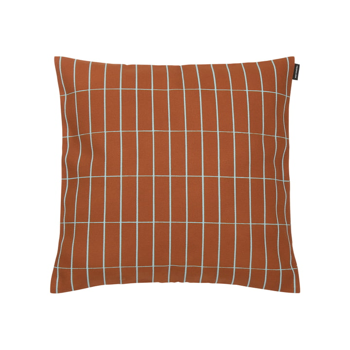 Pieni Tiiliskivi 40 x 40 cm cushion cover from Marimekko in red-brown / turquoise