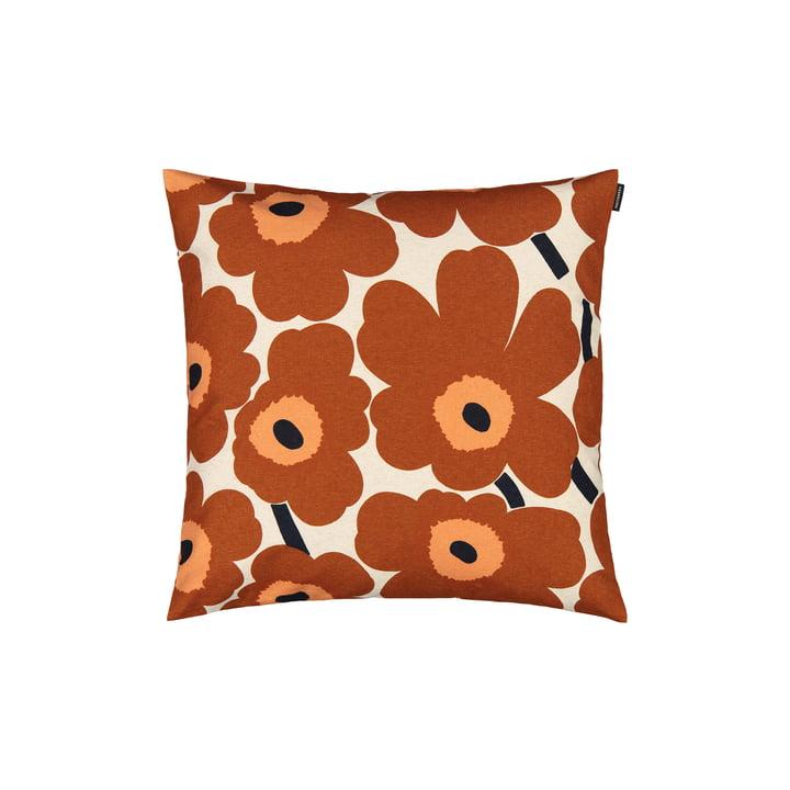 Pieni Unikko 50 x 50 cm cushion cover from Marimekko in beige / maroon
