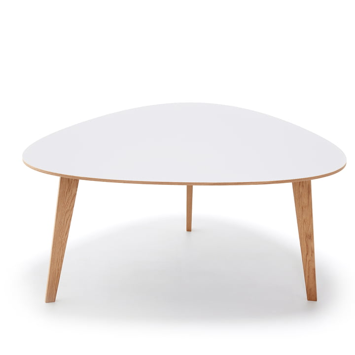 T8 dining table 150 x 127 H 73.5 cm by Andersen Furniture in white pigmented oak / white