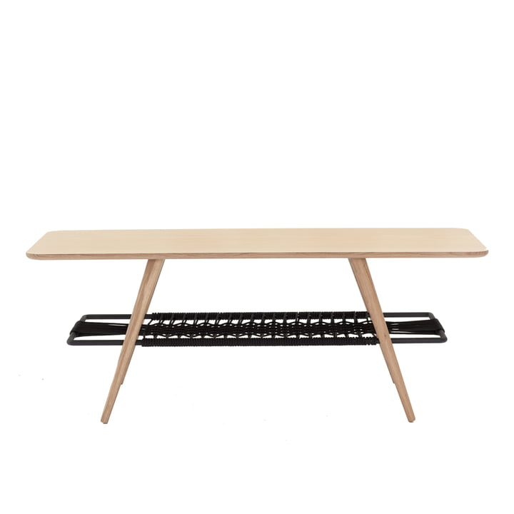C7 side table 120 x 50 x H 45 cm by Andersen Furniture in white pigmented oak / black