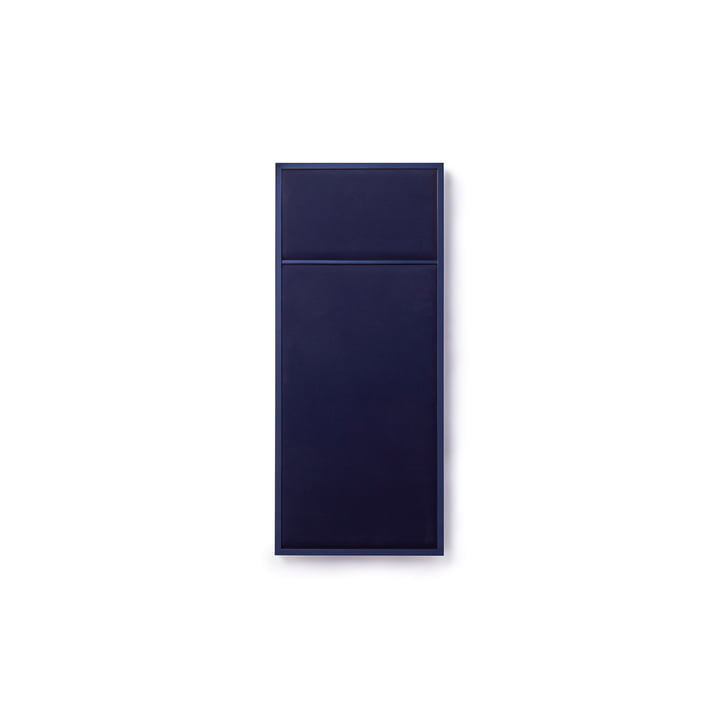 Nouveau Pinboard in S, 62.3 x 27.6 cm, steel blue / navy blue from Please wait to be seated