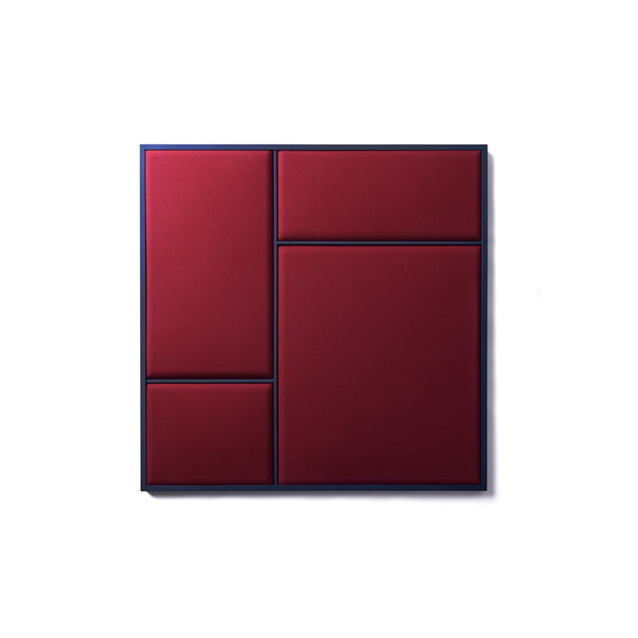 Nouveau Pinboard in M, 62.3 x 62.3 cm, steel blue / rouge noir from Please wait to be seated