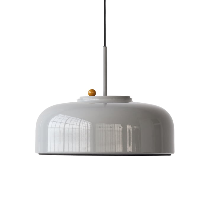 Podgy Pendant lamp Ø 42 cm from Please wait to be seated in ash grey / turmeric yellow