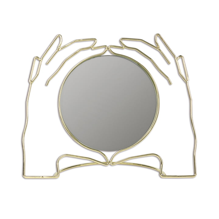 Xéria table mirror, gold by Doiy