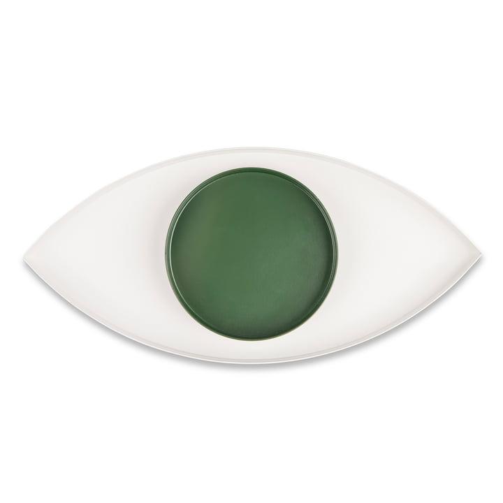 The Eye Tray set of 2, white / green from Doiy