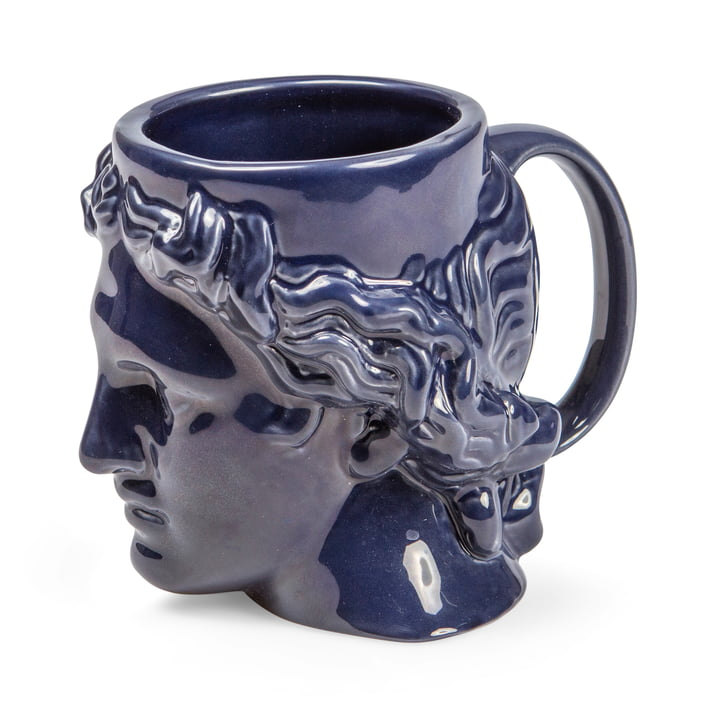 Hestia Mug with handle, blue by Doiy