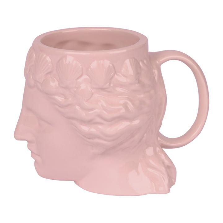 Aphrodite Mug with handle, pink by Doiy