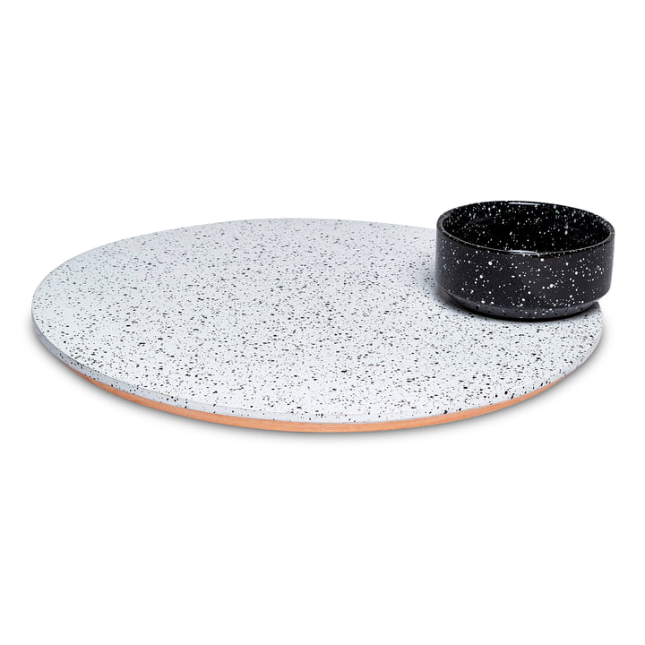 Eclipse Serving dish, white / black from Doiy