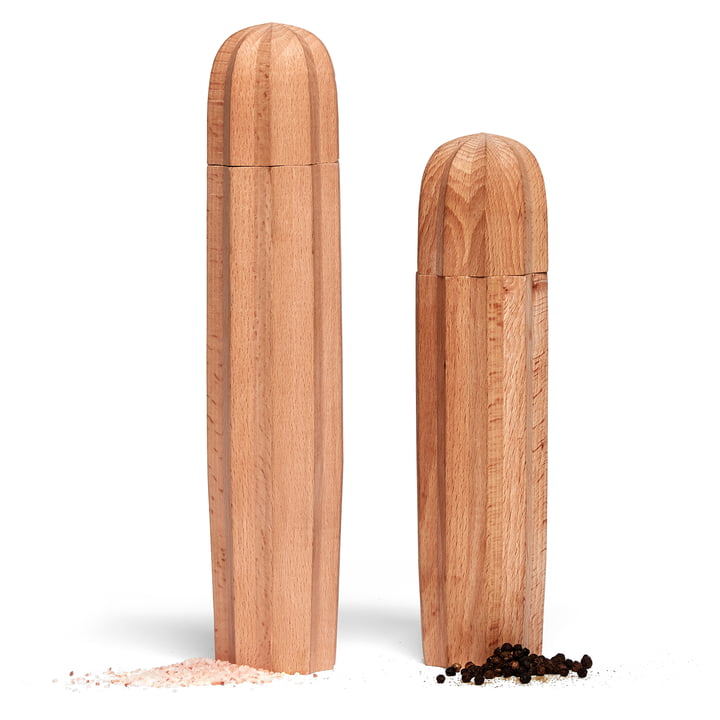 Cacti Salt and pepper mill (set of 2), natural from Doiy