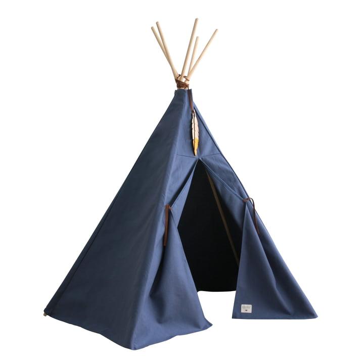 Nevada Tipi tent, aegean blue by Nobodinoz
