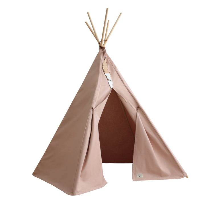 Nevada Tipi tent, bloom pink by Nobodinoz