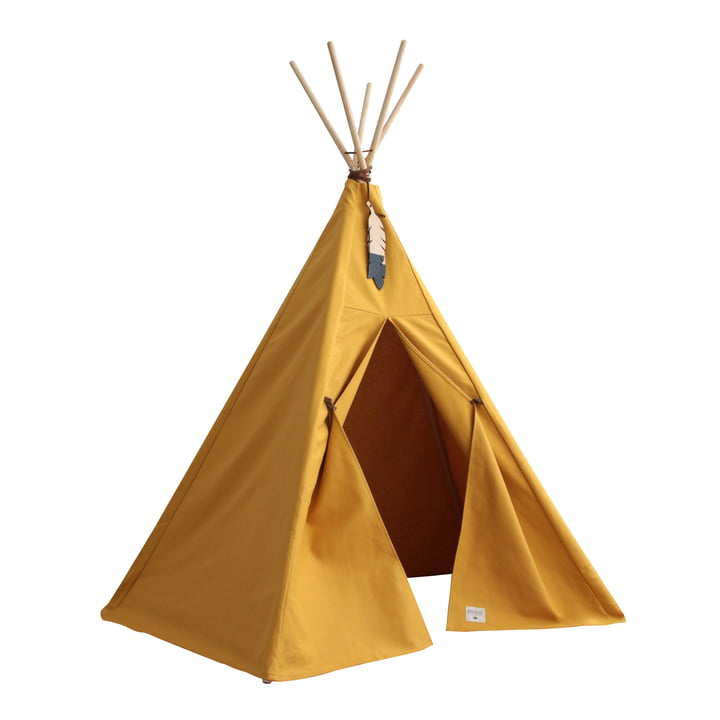 Nevada Tipi -tent, farniente yellow from Nobodinoz