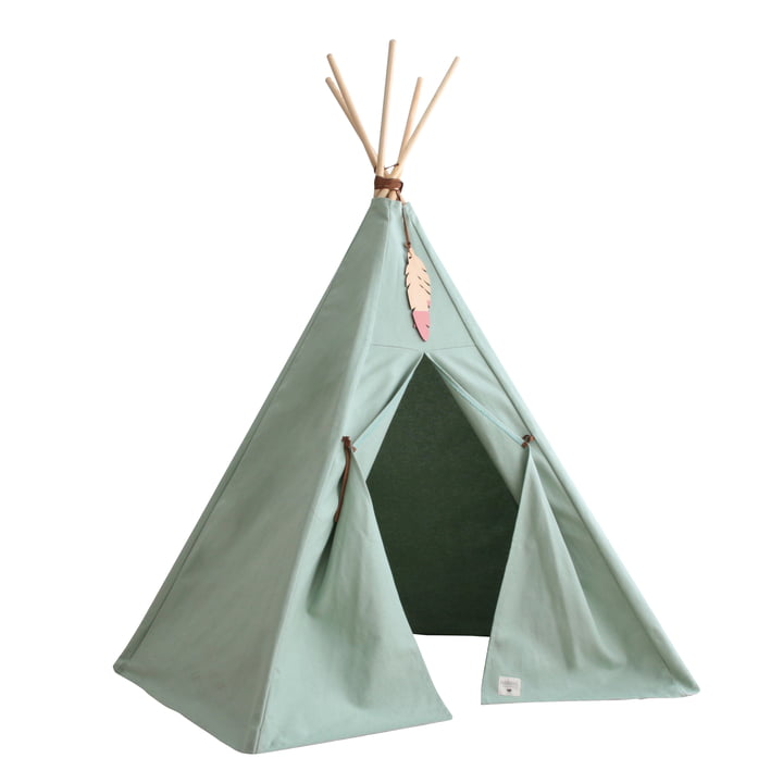 Nevada Tipi -Tent, provence green from Nobodinoz
