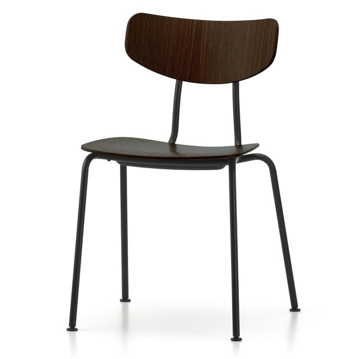 Moca chair by Vitra in dark oak / black
