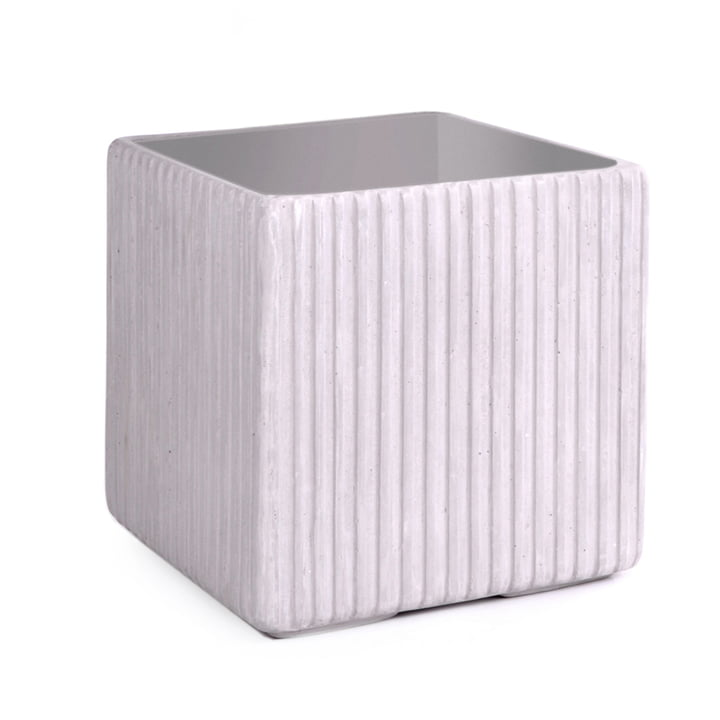 Mon Square Flowerpot M, grey from XLBoom