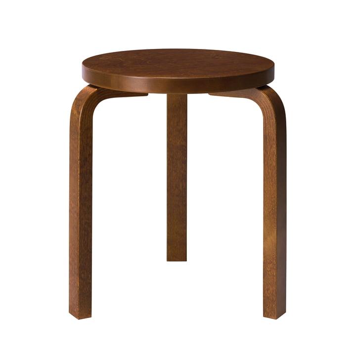 60 stools by Artek stained in walnut