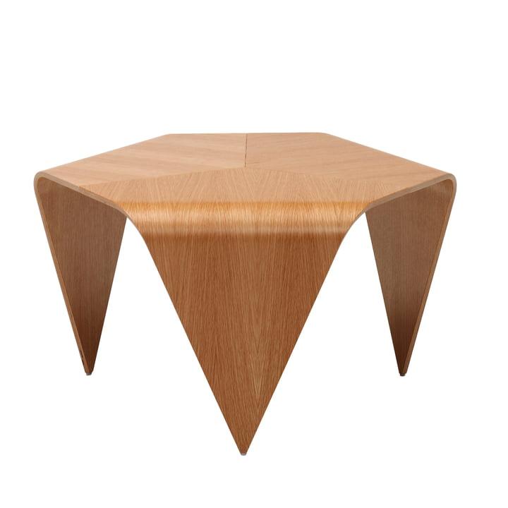 Trienna coffee table by Artek in clear lacquered oak
