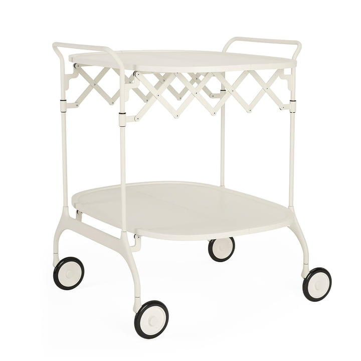 Gastone serving trolley, monochrome white matt by Kartell