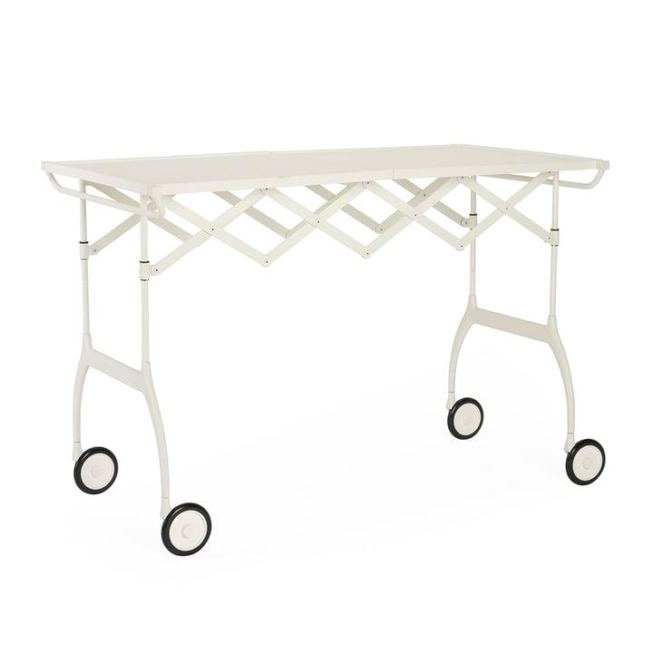 Battista serving trolley, monochrome white matt by Kartell