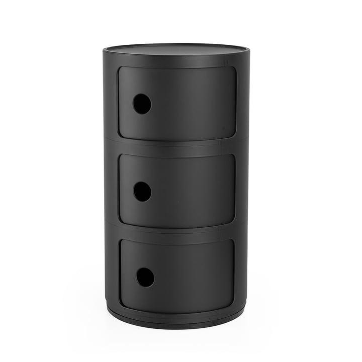 Componibili 4988, black matt by Kartell