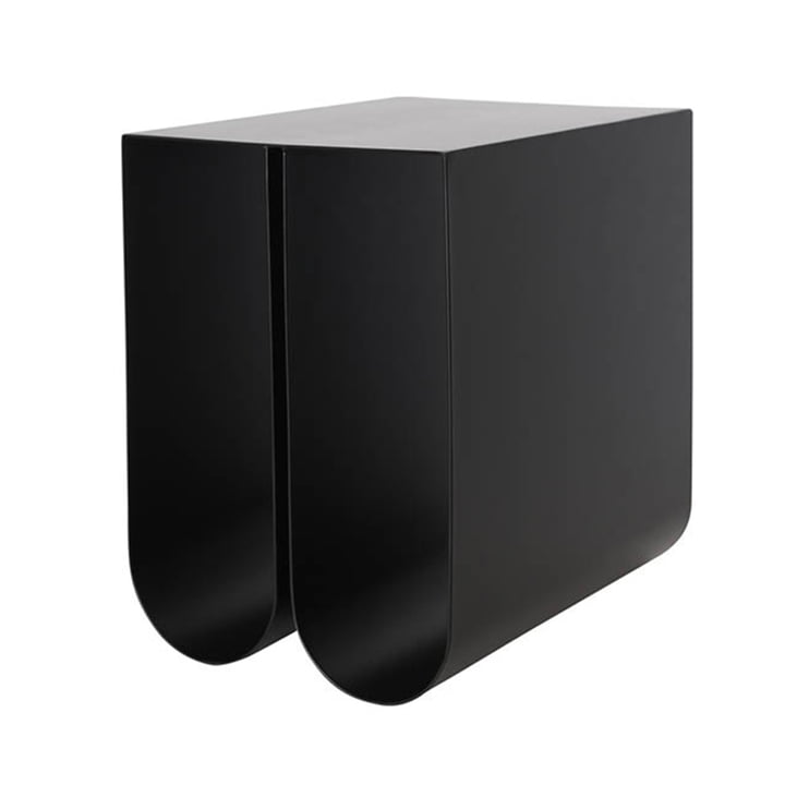 Curved side table by Kristina Dam Studio in black