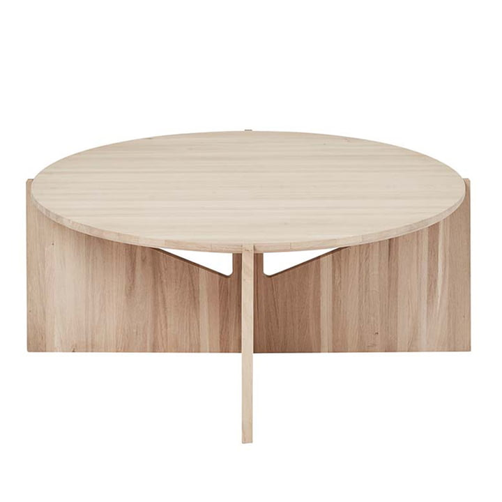 Coffee table XL Ø 78 H 36 cm by Kristina Dam Studio in oak
