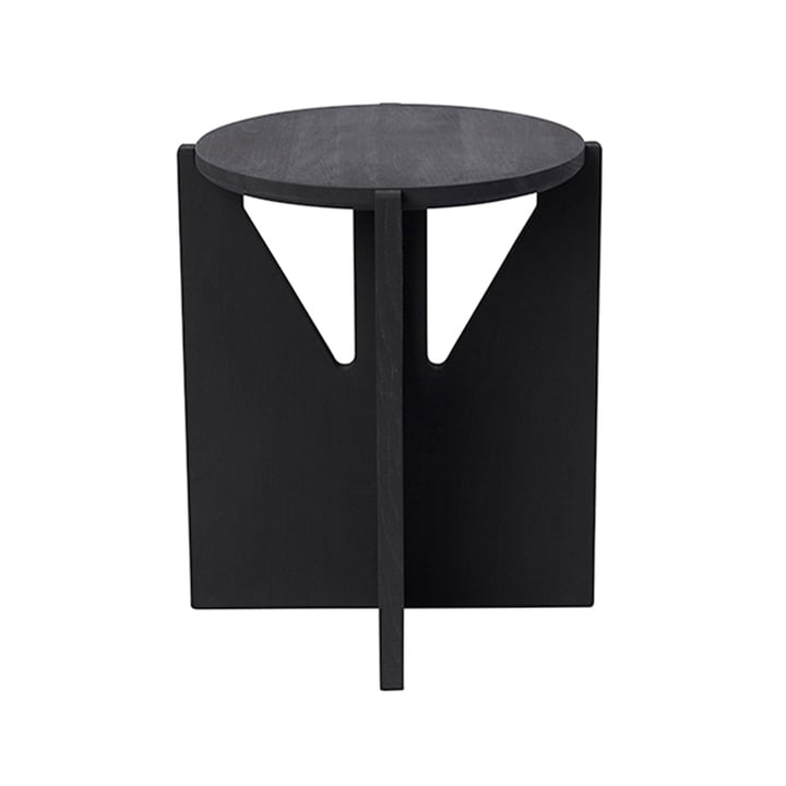 Stool Ø 36 cm H 42 cm by Kristina Dam Studio in black