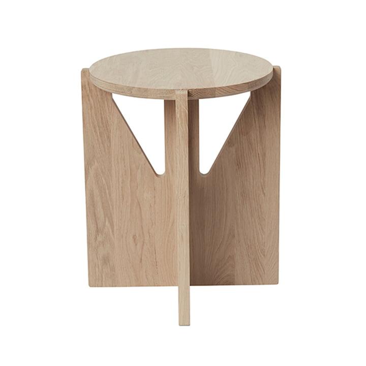 Stool Ø 36 cm H 42 cm by Kristina Dam Studio in oak