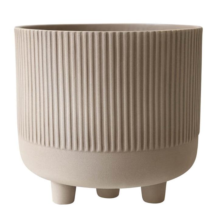 Bowl flowerpot XL Ø 30 cm by Kristina Dam Studio in gray