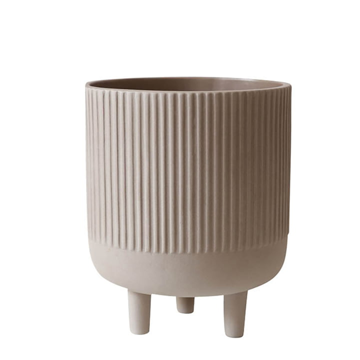 Bowl flowerpot L Ø 18 cm by Kristina Dam Studio in gray