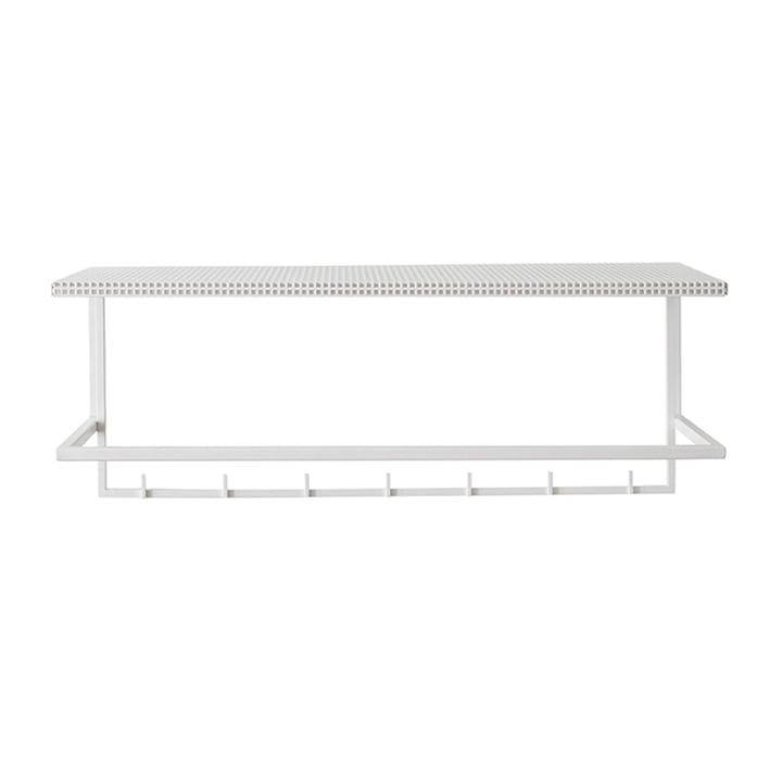 Grid coat rack by Kristina Dam Studio in white