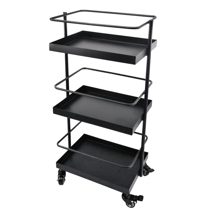 The Wait serving trolley, black from the Connox Collection
