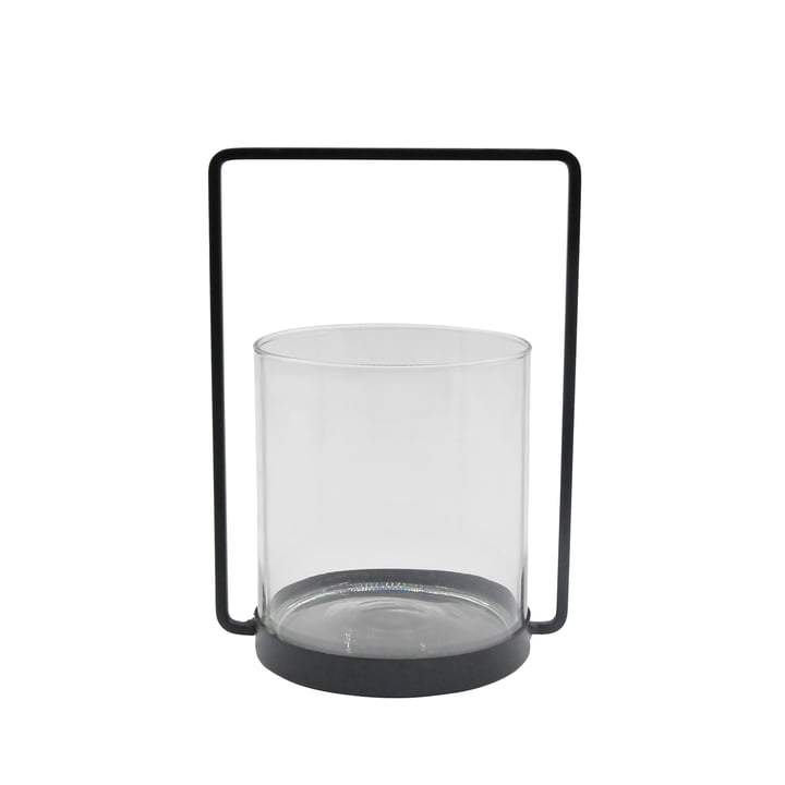The lantern metal H 26 cm, black from the Connox Collection
