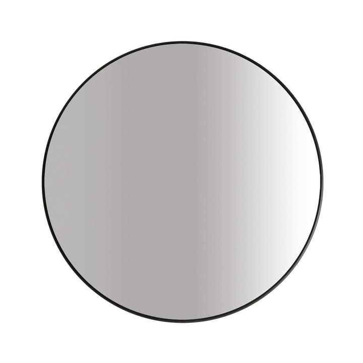 The Big mirror Ø 80 cm, black by yunic