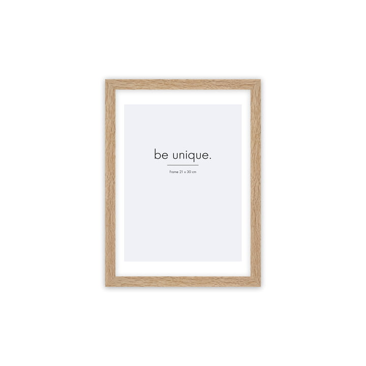 Floating picture frame 21 x 30 cm, oak from Connox Collection