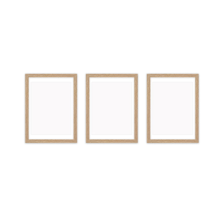 Frame it picture frame 21 x 30 cm set (3 Connox Collection ), oak from Connox Collection