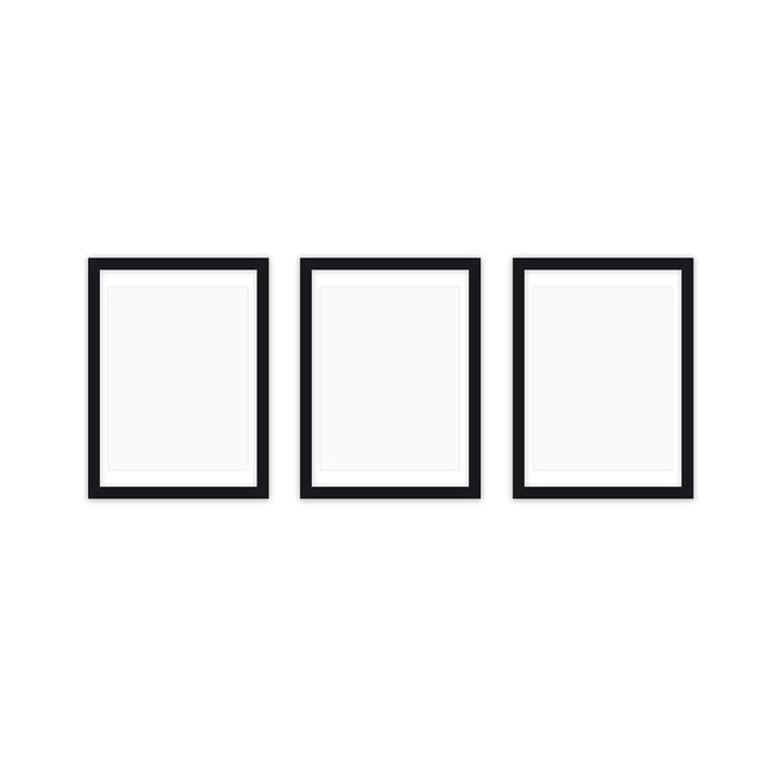 Frame it picture frame 21 x 30 cm set (3 Connox Collection ), black by Connox Collection