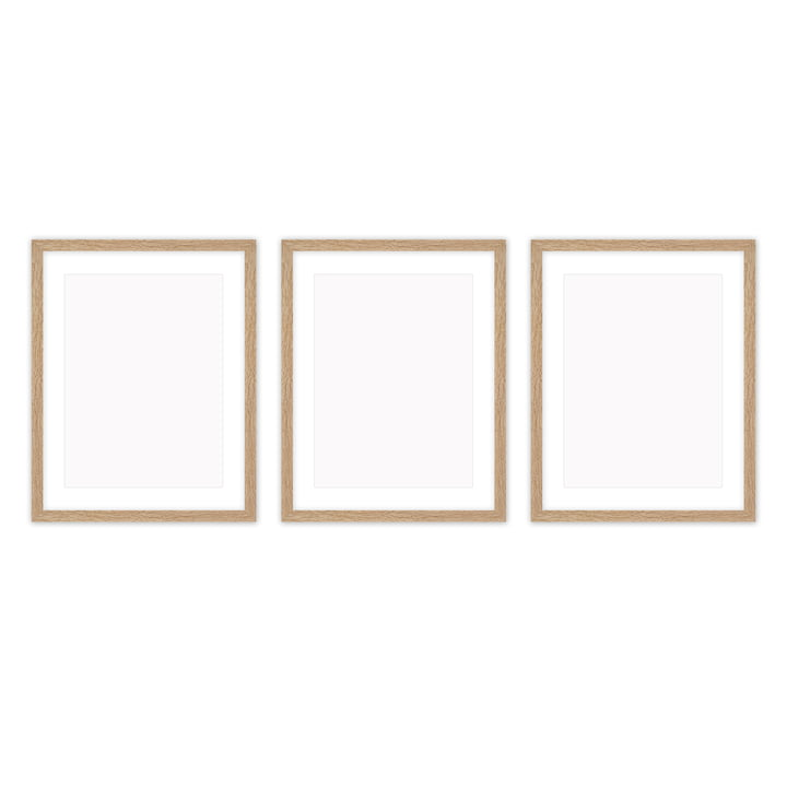 Frame it picture frame 30 x 40 cm set (3 Connox Collection ), oak from Connox Collection