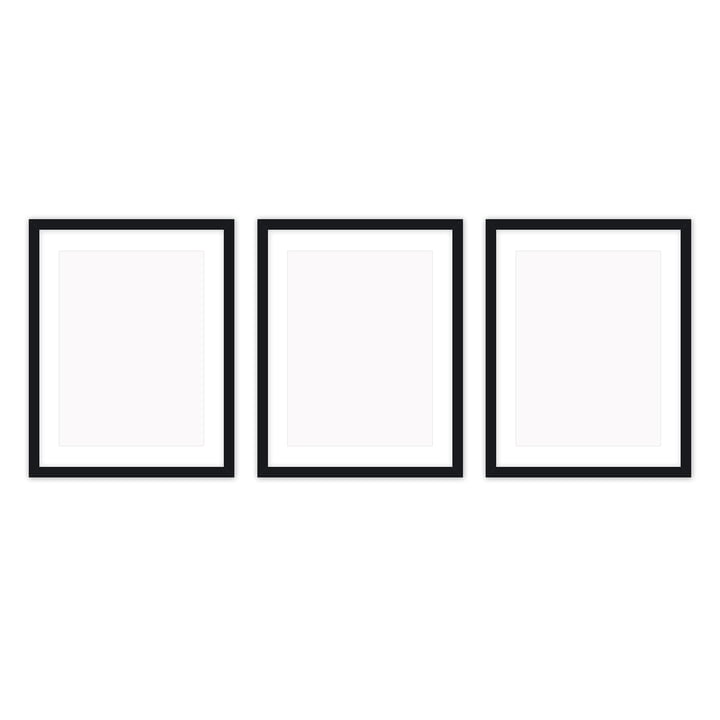 Frame it picture frame 30 x 40 cm set (3 Connox Collection ), black by Connox Collection