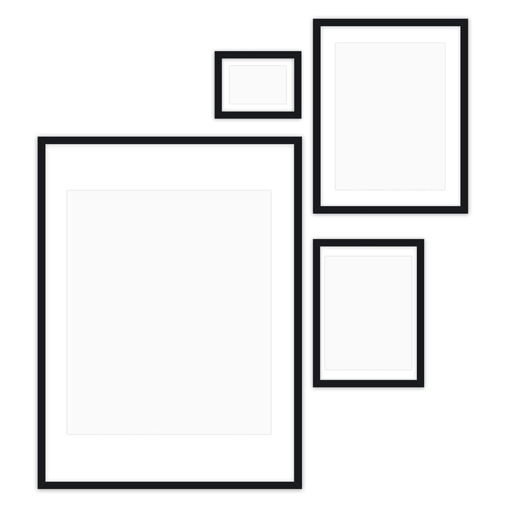 Gallery Wall picture frame set (4 Connox Collection ), black from Connox Collection