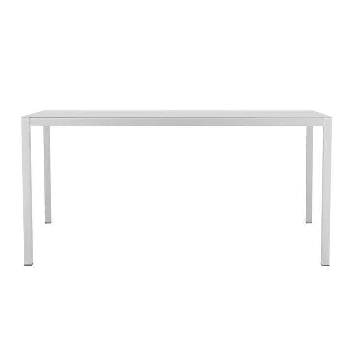 Aria table 180 x 90 cm by Fiam in white