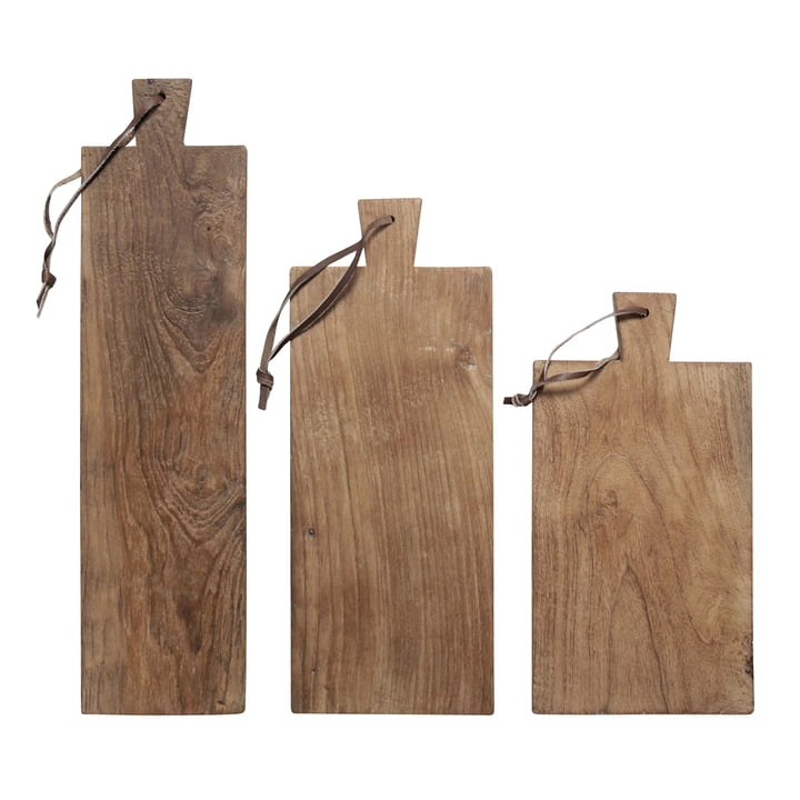 Cutting HKliving (set of 3) from HKliving in Teak / leather