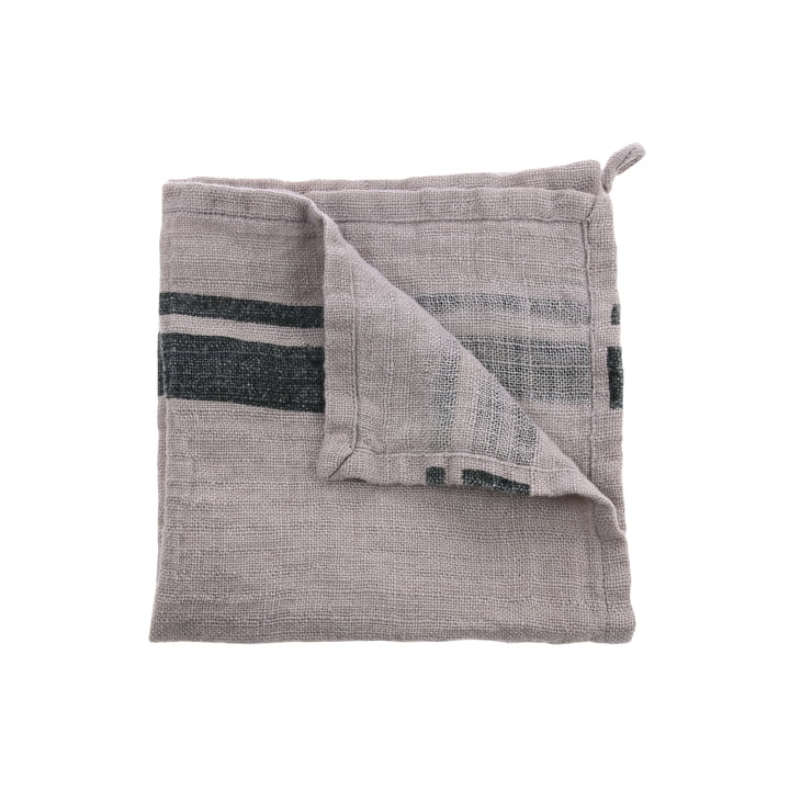 Linen napkins 45 x 45 cm (set of 2) by HKliving in natural / gray