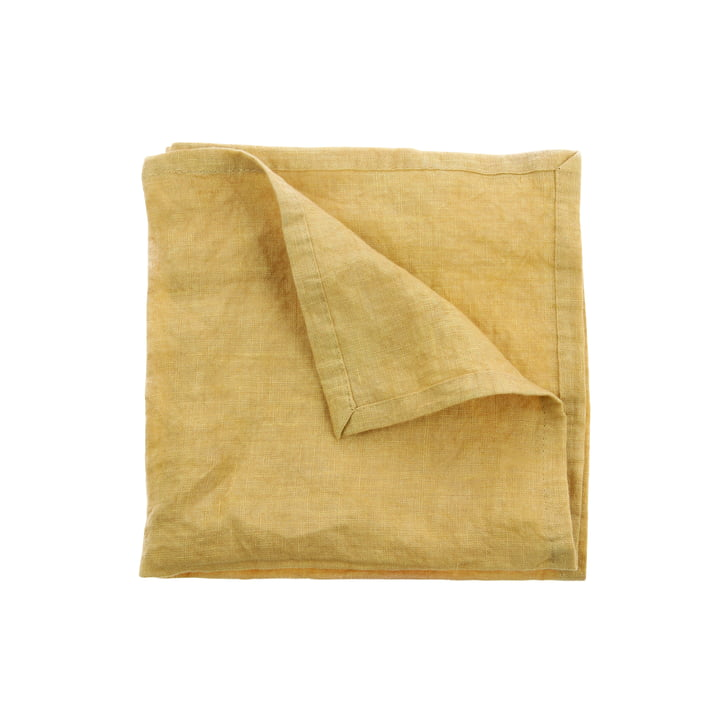 Linen napkins 45 x 45 cm (set of 2) by HKliving in yellow