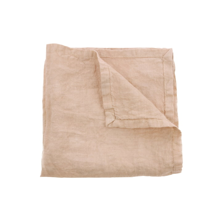 Linen napkins 45 x 45 cm (set of 2) by HKliving in salmon
