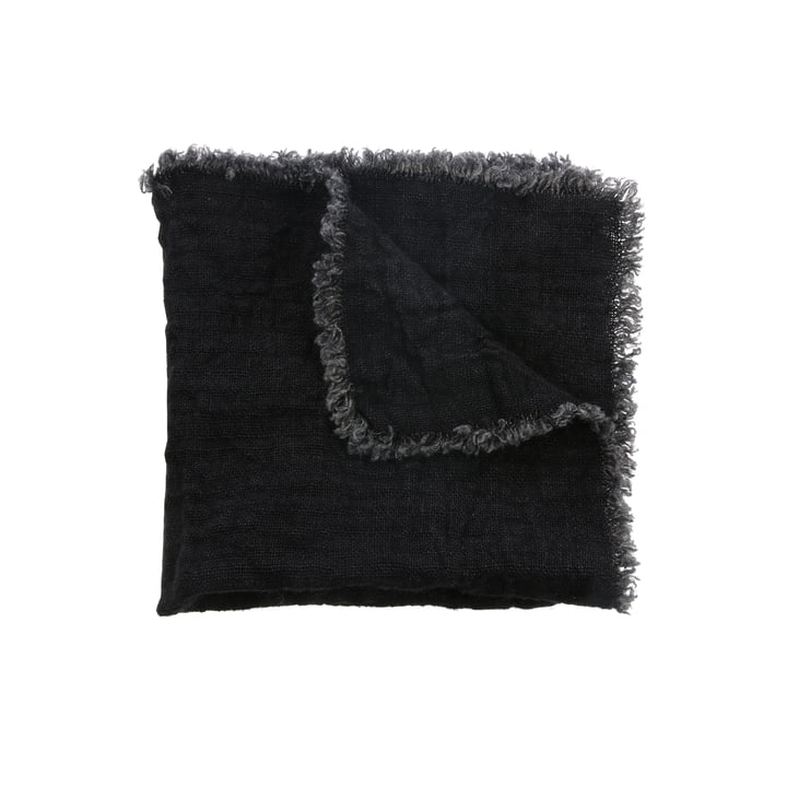 Linen napkins 45 x 45 cm (set of 2) by HKliving in charcoal