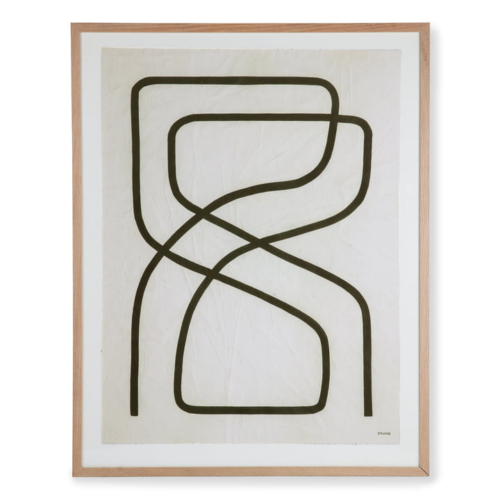 HKliving - Art Frame by Benjamin Ewing Picture (framed), 75 x 95 cm, black and white
